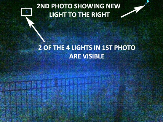 2ND PHOTO SHOWING LARGER LIGHT TO THE RIGHT.