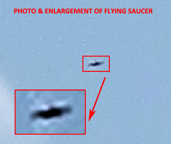 PHOTO & ENLARGEMENT OF FLYING SAUCER.