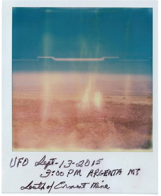 UPDATED SCAN OF POLAROID PHOTO OF HUGE HOVERING OBJECT.