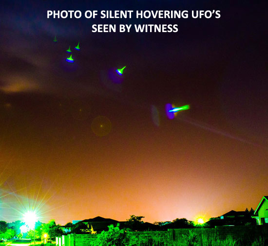 PHOTO ENHANCEMENT OF UFO'S SEEN BY WITNESS.