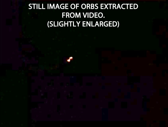 STILL IMAGE OF ORBS EXTRACED FROM VIDEO.