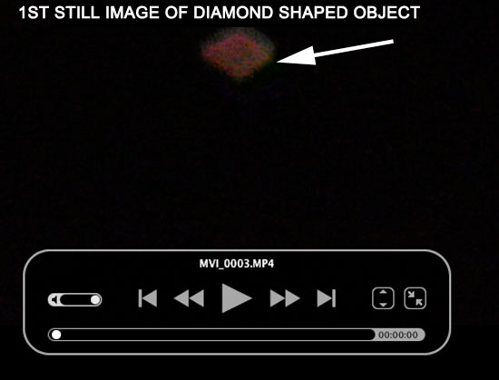 1ST IMAGE OF DIAMOND SHAPED OBJECT EXTRACTED FROM VIDEO.