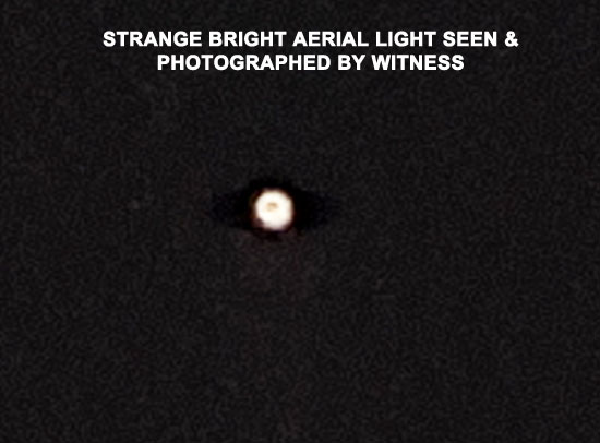 ZOOMED IN PHOTO OF STRANGE LIGHT SEEN BY WITNESS.