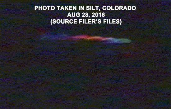 PHOTO OF SIMILAR OBJECT TAKEN IN SILT, COLORADO.