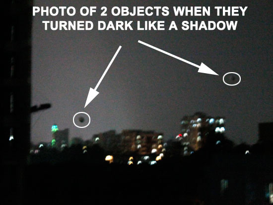 PHOTO OF 2 OBJECTS WHEN TURNED DARK LIKE SHADOW.
