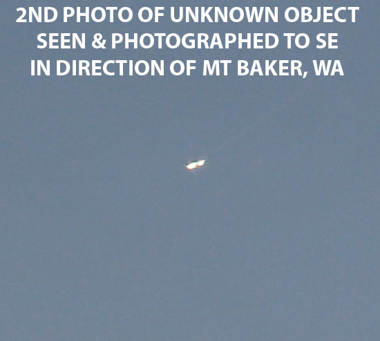 2ND PHOTO OF UNKNOWN OBJECT SEEN & PHOTOGRAPHED BY WITNESS.