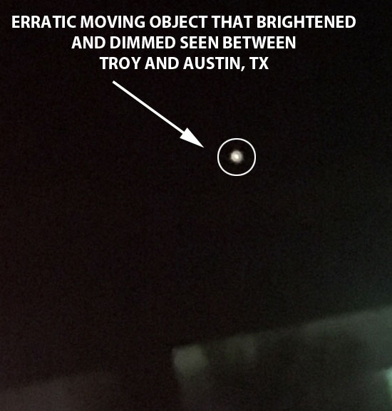 1 OF SEVERAL PHOTOS OF OBJECT THAT BRIGHTENED & DIMMED.
