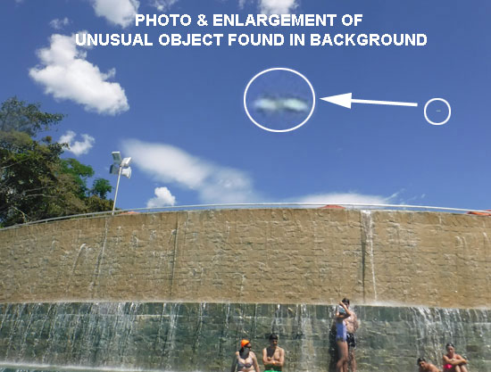 PHOTO & ENLARGEMENT OF UNUSUAL OBJECT FOUND IN BACKGROUND.