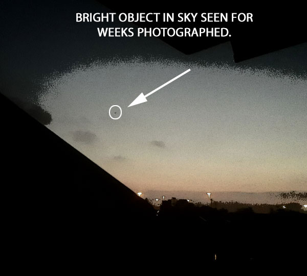 BRIGHT STAR-LIKE OBJECT PHOTOGRAPHED.