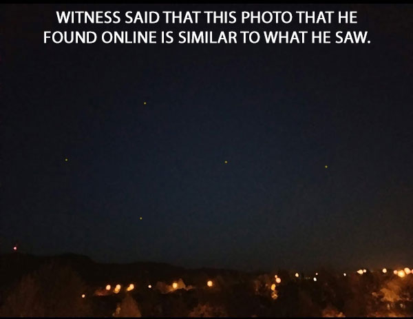 WITNESS SAID THAT THIS ONLINE PHOTO WAS LIKE THE LIGHTS THAT HE SAW.