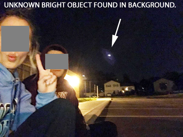 PHOTO OF UNKNOWN BRIGHT OBJECT FOUND IN BACKGROUND.