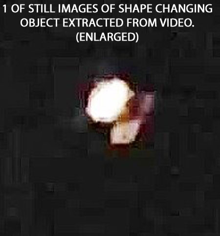 1 OF STILL IMAGES OF SHAPE CHANGING OBJECT EXTRACTED FROM VIDEO. (ENLARGED).