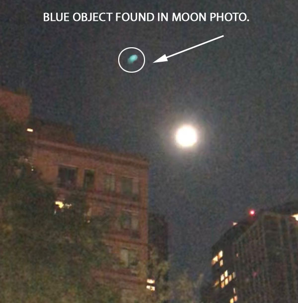 BLUE OBJECT FOUND IN IN MOON PHOTO.