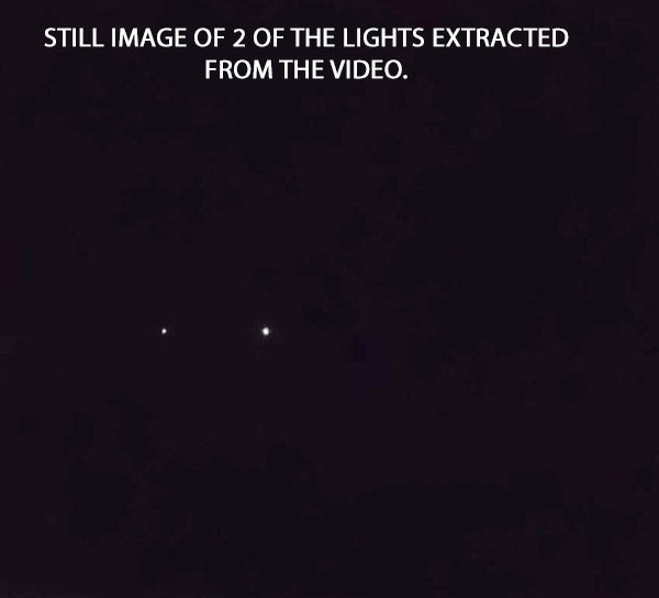 STILL IMAGE OF 2 OF THE LIGHTS EXTRACTED FROM THE VIDEO.