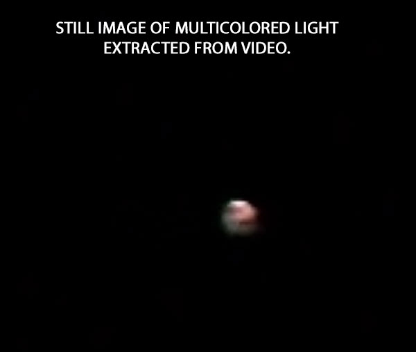 STILL IMAGE OF MULTICOLORED LIGHT EXTRACTED FROM VIDEO.