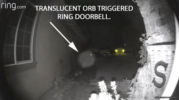 STILL IMAGE OF TRANSLUCENT ORB EXTRACTED FROM VIDEO.