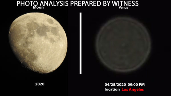 PHOTO ANALYSIS PREPARED BY WITNESS. (I LABELED OBJECT ON RIGHT AS VENUS.)