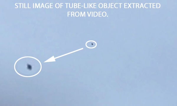 STILL IMAGE OF TUBE-LIKE OBJECT EXTRACTED FROM VIDEO.