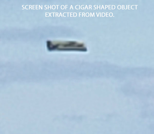 SCREEN SHOT OF CIGAR SHAPED OBJECT EXTRACTED FROM VIDEO.