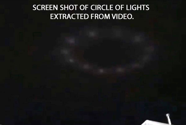 SCREEN SHOT OF CIRCLE OF LIGHTS EXTRACTED FROM VIDEO.