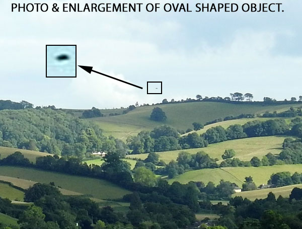 PHOTO & ENLARGEMENT OF OVAL SHAPED OBJECT.