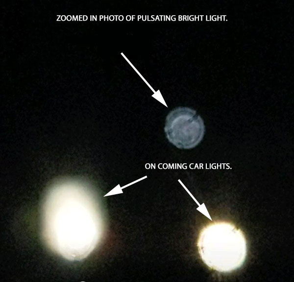 ZOOMED IN PHOTO OF PULSATING BRIGHT LIGHT.