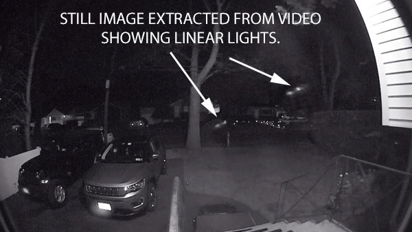 STILL IMAGE EXTRACTED FROM VIDEO SHOWING LINEAR LIGHTS.
