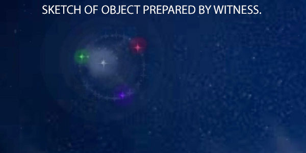SKETCH OF SPHERICAL OBJECT PREPARED BY WITNESS.