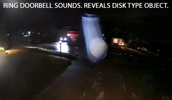 RING DOORBELL SOUNDS. REVEALS DISK TYPE OBJECT.