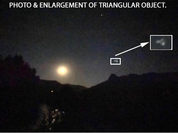 PHOTO & ENLARGEMENT OF TRIANGULAR OBJECT.
