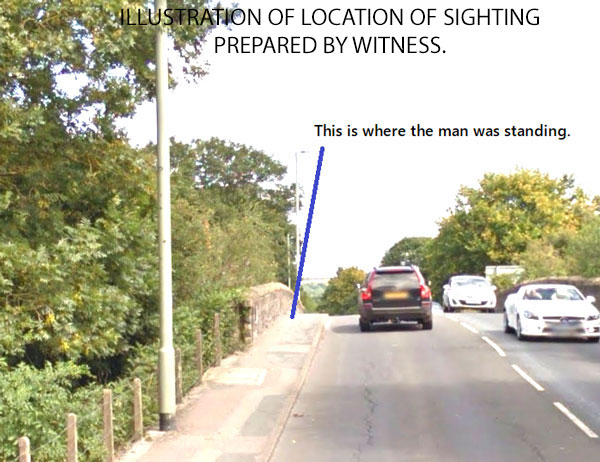 ILLUSTRATION OF LOCATION OF SIGHTING PREPARED BY WITNESS.