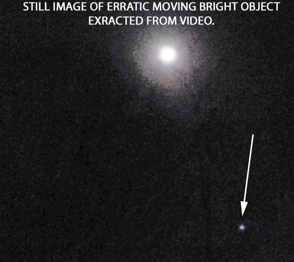 STILL IMAGE OF ERRATIC MOVING OBJECT EXTRACTED FROM VIDEO.