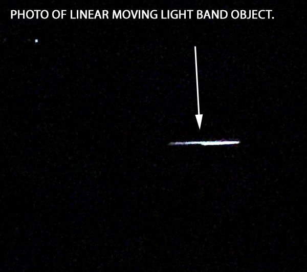 PHOTO OF LINEAR MOVING LIGHT BAND OBJECT.