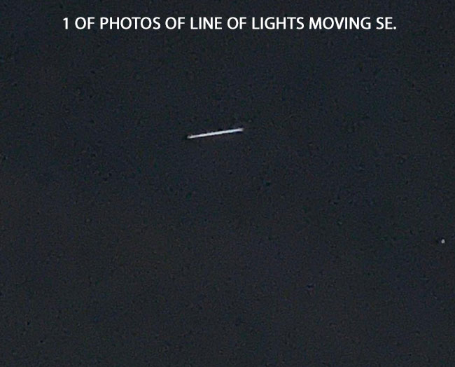 1 OF PHOTOS OF LINE OF LIGHTS.