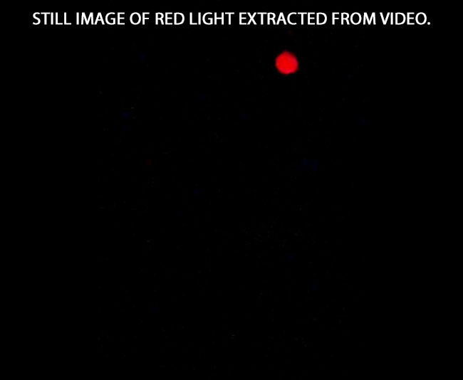 STILL IMAGE OF BRIGHT LIGHT EXTRACTED FROM VIDEO.