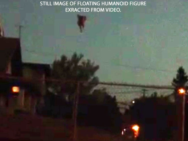 STILL IMAGE OF FLOATING HUMANOID FIGURE EXTRACTED FROM VIDEO.