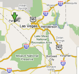 Map Pahrump Nevada Sighting Reports 2006