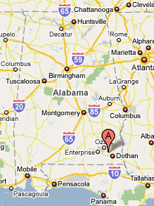 Midland City is in Southeast Alabama Near Dothan, Alabama Airport and Fort Rucker Army Aviation Center.