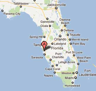 Palmetto is in Western Florida About 25 Miles South of Tampa.