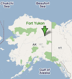 Fort Yukon Alaska Map.February 1976 Norad Radar Station Near Fort Yukon Alaska